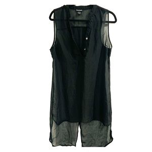 Black transparent shirt